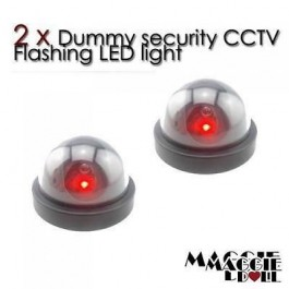 2 x Fake Dummy DOME LED security CCTV CCD camera surveillance flashing light