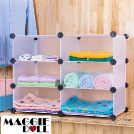 2x3 DIY Cube Storage Cupboard Cabinet Wardrobe Shoe Rack Toy Book Shelf Shelves
