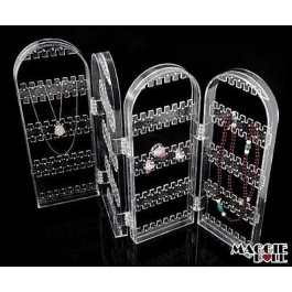 Acrylic Makeup Make Up Earring 4 Fold Display Stand Holder ORGANIZER Storage 012
