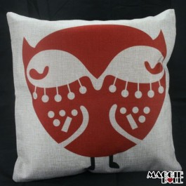 NEW Vintage Cotton Linen Cushion Cover Home Decor Decorative pillow fox 061 [Fox Red]