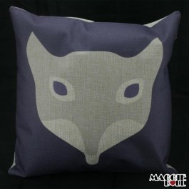 NEW Vintage Cotton Linen Cushion Cover Home Decor Decorative pillow fox 061 [Fox Grey]