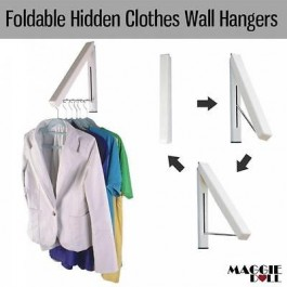 Foldable Hidden Hooks Coat Hat Clothes Robe Holder Rack Hook Wall Hangers