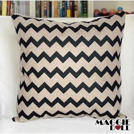 NEW Vintage Cotton Linen Cushion Cover Home Decor Decorative pillow case black
