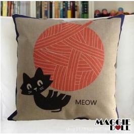 NEW Vintage Cotton Linen Cushion Cover Home Decor Decorative pillow case cat5