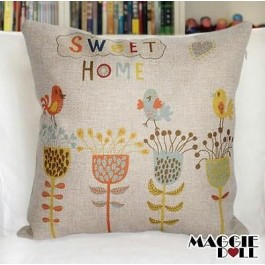 NEW Vintage Cotton Linen Cushion Cover Home Decor Decorative pillow case Home