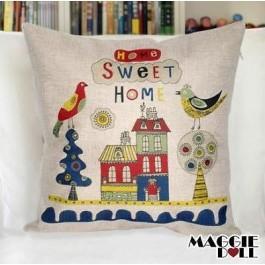 NEW Vintage Cotton Linen Cushion Cover Home Decor Decorative pillow case home2