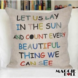 NEW Vintage Cotton Linen Cushion Cover Home Decor Decorative pillow case letters
