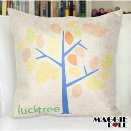NEW Vintage Cotton Linen Cushion Cover Home Decor Decorative pillow case Tree 2