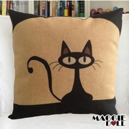 NEW Vintage Cotton Linen Cushion Cover Home Decor Decorative pillow Cat2