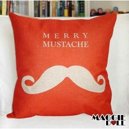 NEW Vintage Cotton Linen Cushion Cover Home Decor Decorative pillow mustache