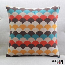 Vintage Linen Cotton Cushion Cover Home Decor Throw Pillow Case 45x45cm 055-2
