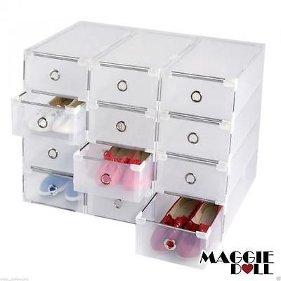 MaggieDoll - 20 x Clear Plastic See Through Drawer Shoes Storage ...