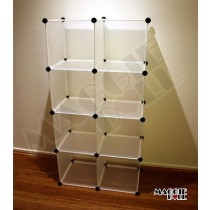 4x2 DIY Cube Storage Cupboard Cabinet Wardrobe Shoe Rack Toy Book Shelf Shelves