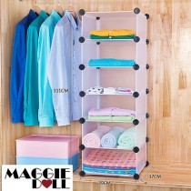 6x1 DIY Cube Storage Cupboard Cabinet Wardrobe Shoe Rack Toy Book Shelf Shelves