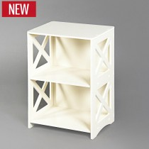 White Hollow Carved Kitchen Book Shelf Small 80cm