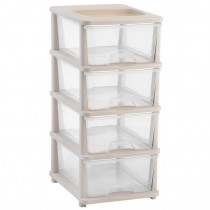 4 tier Plastic Storage Drawers Shelves bedroom bathroom Office Organizer Toolboxes