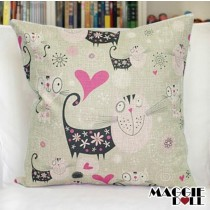 NEW Vintage Cotton Linen Cushion Cover Home Decor Decorative pillow case cat 2