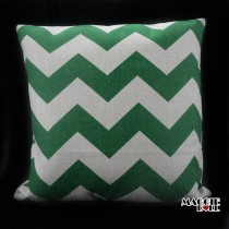 Vintage Linen Cotton Cushion Cover Home Decor Throw Pillow Case 45x45cm zigzag[Green]