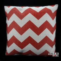 Vintage Linen Cotton Cushion Cover Home Decor Throw Pillow Case 45x45cm zigzag[Red]