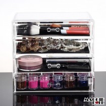 Acrylic Makeup Make Up Lipstick Display Stand Holder Cosmetic Storage 4 tier
