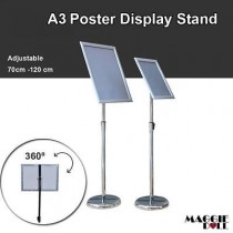 NEW A3 Poster Stand Metal Frame Pedestal Sign Holder Display Adjustable Height