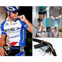 New Unisex Sports Dual Bag Jogging Running Cycling Waterproof Waist Belt