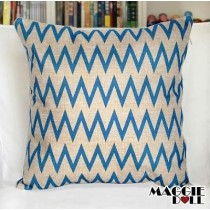 NEW Vintage Cotton Linen Cushion Cover Home Decor Decorative pillow case Blue