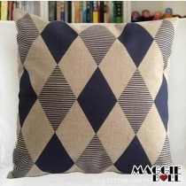 NEW Vintage Cotton Linen Cushion Cover Home Decor Decorative pillow case blue sq