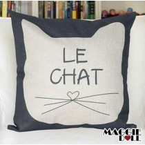 NEW Vintage Cotton Linen Cushion Cover Home Decor Decorative pillow case cat
