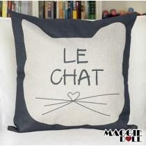 NEW Vintage Cotton Linen Cushion Cover Home Decor Decorative pillow case cat