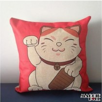 NEW Vintage Cotton Linen Cushion Cover Home Decor Decorative pillow case cat 4