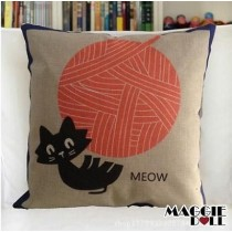 NEW Vintage Cotton Linen Cushion Cover Home Decor Decorative pillow case cat5