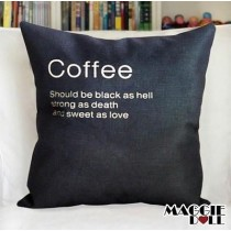 NEW Vintage Cotton Linen Cushion Cover Home Decor Decorative pillow case coffee