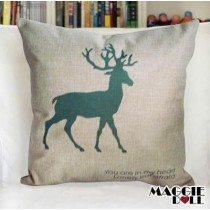 NEW Vintage Cotton Linen Cushion Cover Home Decor Decorative pillow case deer