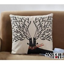 NEW Vintage Cotton Linen Cushion Cover Home Decor Decorative pillow case deer2