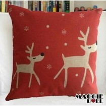 NEW Vintage Cotton Linen Cushion Cover Home Decor Decorative pillow case deer4