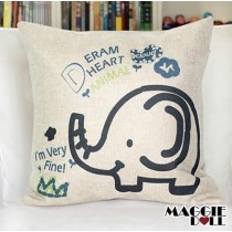 NEW Vintage Cotton Linen Cushion Cover Home Decor Decorative pillow case elephan