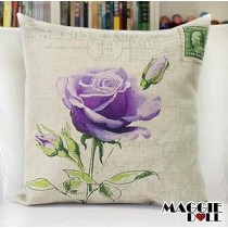 NEW Vintage Cotton Linen Cushion Cover Home Decor Decorative pillow case flower3