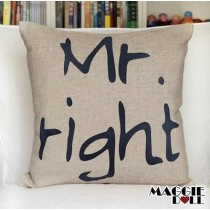 NEW Vintage Cotton Linen Cushion Cover Home Decor Decorative pillow case mr righ