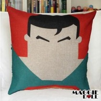 NEW Vintage Cotton Linen Cushion Cover Home Decor Decorative pillow case superman