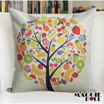 NEW Vintage Cotton Linen Cushion Cover Home Decor Decorative pillow case Tree 3