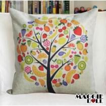 NEW Vintage Cotton Linen Cushion Cover Home Decor Decorative pillow case Tree 3