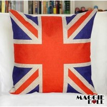 NEW Vintage Cotton Linen Cushion Cover Home Decor Decorative pillow case UK Flag