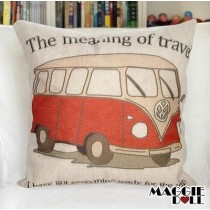 NEW Vintage Cotton Linen Cushion Cover Home Decor Decorative pillow case Van