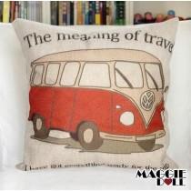 NEW Vintage Cotton Linen Cushion Cover Home Decor Decorative pillow case Van