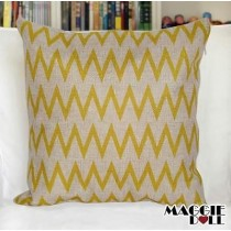 NEW Vintage Cotton Linen Cushion Cover Home Decor Decorative pillow case yellow
