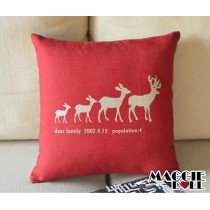 NEW Vintage Cotton Linen Cushion Cover Home Decor Decorative pillow deer4