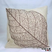NEW Vintage Cotton Linen Cushion Cover Home Decor Decorative pillow leaf