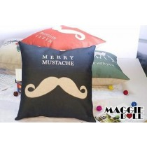 NEW Vintage Cotton Linen Cushion Cover Home Decor Decorative pillow mustache2