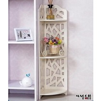 New White Hollow Carved Kitchen Bathroom Storage shoes Rack book shelves dq80zj
